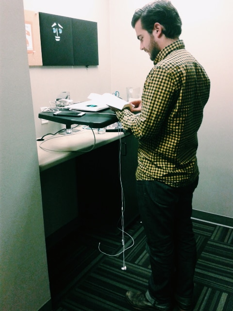 standing desk at workzones