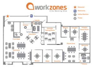 Workzones Santa Barbara Floor Plan