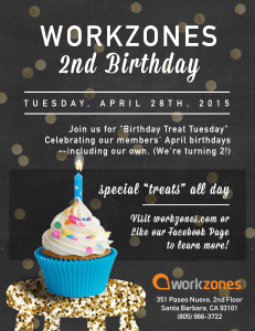 Workzones 2nd anniversary