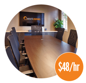 Workzones boardroom $48/hr