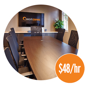 Workzones conference room $48/hr