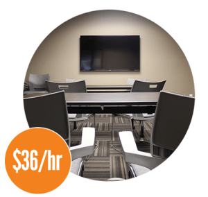 Workzones XL meeting room $36/hr