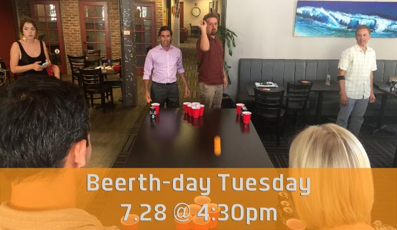 Beerth-day Tuesday 7.28 @ 4:30pm