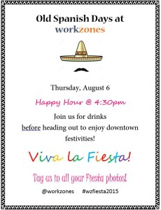 Fiesta Happy Hour At workzones! @ workzones