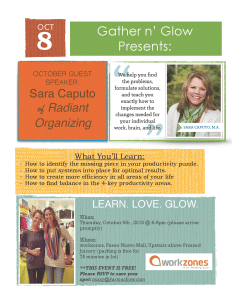 Gather n' Glow Presents: Sara Caputo of Radiant Organizing
