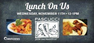 Lunch On Us with PASCUCCI @ workzones
