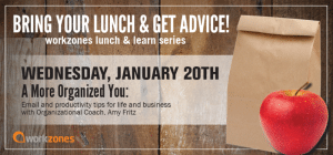 bring your lunch & get advice January 20