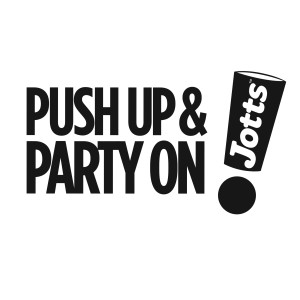 Push Up & Party On Jotts Logo