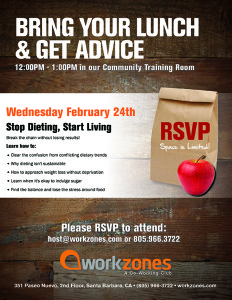 Bring your lunch & get advice