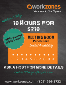 Workzones punch card