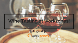 wine tasting at Workzones