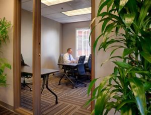 man working in private office Workzones