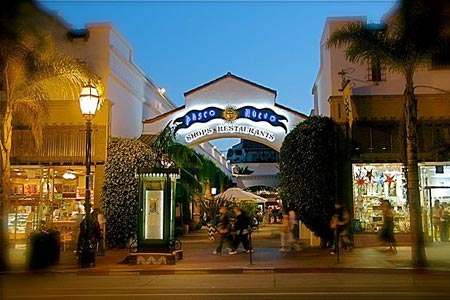 Front of the Paseo in Santa Barbara