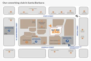 Workzones in downtown Santa Barbara