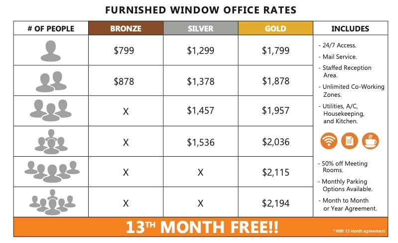 workzones santa barbara office rates pricing grid