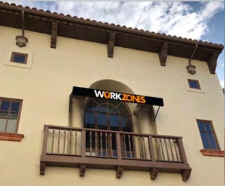 Workzones exterior downtown Santa Barbara