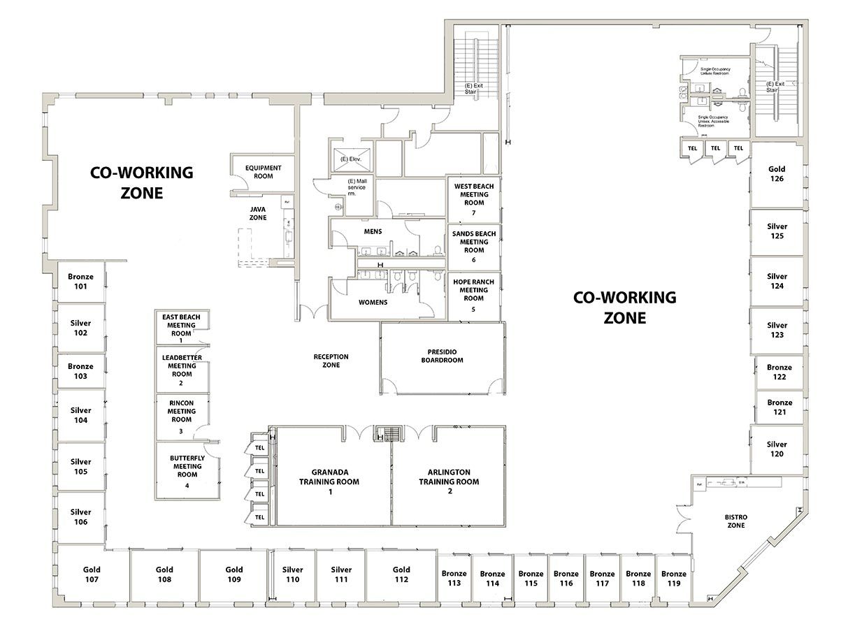 Workzones Santa Barbara floorplan