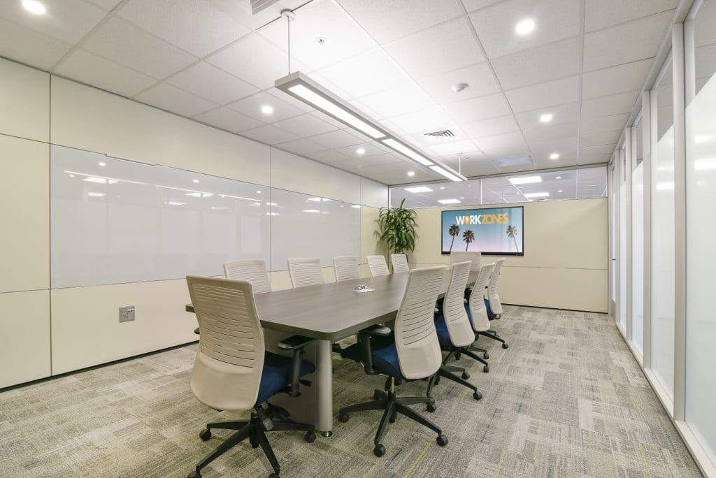 state-of-the-art board rooms available by the hour or day at Workzones in Santa Barbara